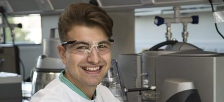 George Mihailescu in his lab