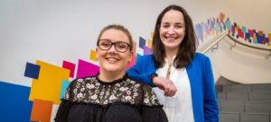 Laura Brady, recipient of the 2017/18 UrbanVolt scholarship and Edel Kennedy, Head of Marketing with UrbanVolt announce the UrbanVolt Scholarship for 2018/19