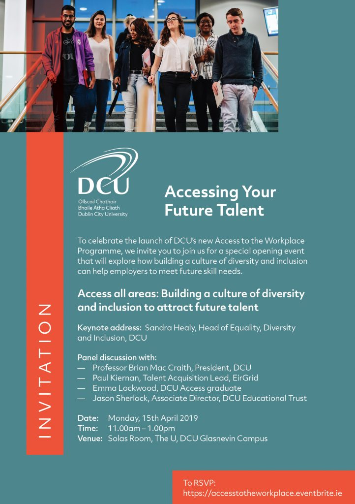 Accessing Your Future Talent - Celebrating the Launch of DCU Access